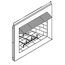 6 inch deep surface mount fireplace hood