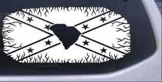 Confederate Rebel Battle Flag South Carolina Car Or Truck Window Decal Sticker Rad Dezigns