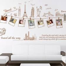 Vova New Diy Ecofriendly Global Travel Wall Sticker Originality Wallpaper For Office And Living Room Decoration