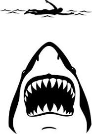 5 Inch Shark Jaws And Swimmer Decal Window Sticker Car Decor Ocean Retro Attack Ebay
