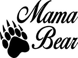 Amazon Com Mama Bear Vinyl Car Decal 8 X 6 Home Kitchen