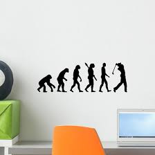 Golfing Evolution Golf Wall Decal Sticker Set Panoramic Wall Decal Wallmonkeys Com