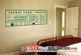 Fenway Park Scoreboard Man Cave Wall Decal Art 2 Cool Wall Decor Man Cave Wall Decals Red Sox Room