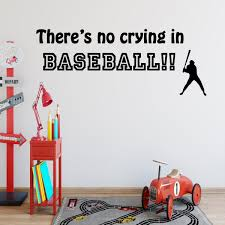 There S No Crying In Baseball Sports Wall Decal Saying Vinyl Letters Stickers Wall Decal