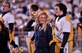 wvu cheerleaders bring pep spirit to