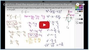 calculus tangent line equation