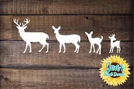 Deer Family Car Window Decal Country Decal Etsy
