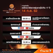 Thai PBS - ตารางการแข่งขันเซปักตะกร้อชาย รุ่นอายุไม่เกิน...
