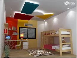 Stunning Furniture Modern Kids Room Gypsum Ceilings Designs 34