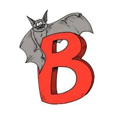 Alphabet Red Letter B Bat Standing On Letter Letters And Numbers Decals Decal Sticker 15717