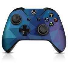 Xbox One Controller Skin Dark Blue Poly Controller Gear