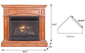 small corner fireplace gas
