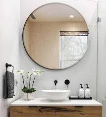 round wall mirror in transpa colour