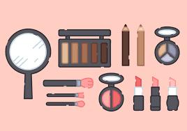 cute makeup s vector