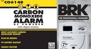 carbon monoxide alarm with digital display