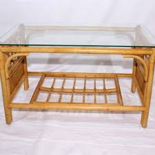 cane glass top coffee table little gem