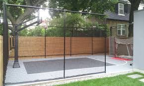 20x32 Backyard Court By Total Sport Solutions Containment Netting Keeps The Ball In Play Court Backyard Court Basketball Court Backyard Backyard Basketball