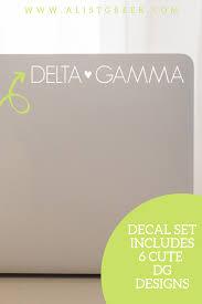 Delta Gamma Sticker Set A List Greek Designs In 2020 Delta Gamma Sticker Set Sorority Big Little
