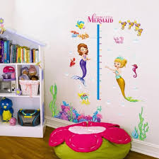 The Little Mermaid Height Chart Wall Decals The Treasure Thrift