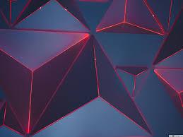 3d مثلثات النيون الأحمر تنزيل خلفية Hd