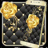 gold rose live wallpaper apk free