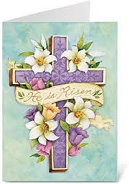 Amazon.com : Easter Cross Religious Greeting Cards - Set of 8 ...