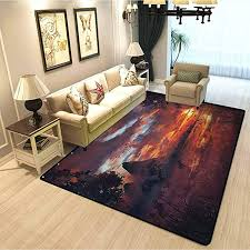 Amazon Com Scenery Decor Contemporary Area Rug Ancient First Age Seemed View With Safari Wild Animals Gazelles And Forrest Image Kids Playing Mats In Bedroom Living Room Multi W5xl7 Feet Kitchen Dining