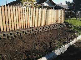 Posts About Fence On Nw Solid Rock Construction Backyard Retaining Walls Wood Fence Design Wood Retaining Wall