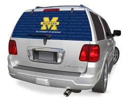 Michigan Wolverines Window Decals Michigan Wolverines Window Graphics Michigan Wolverines Ncaa Logo Glass Tatz Rearz Back Windshield Graphic Decals