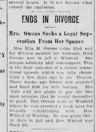 ella madge smith owens conly miller sues for divorce from dewitt c ...