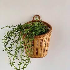 woven bamboo wall pocket wicker rattan