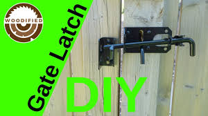How To Install A Gate Latch On A Wood Fence Youtube