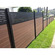 Infinity 0 41 Ft H X 6 Ft W King Cedar Composite Composite Fence Panel Lowes Com Fence Panels Rustic Stairs Cedar Hedge