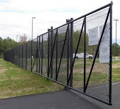 Secure Access Chain Link Fence Installation Security Gate Driveway Gates