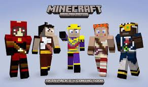 minecraft skin heroes pack hd wallpaper