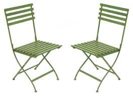 garden chairs pair of metal folding