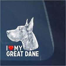 Amazon Com I Love My Great Dane Clear Vinyl Decal Sticker For Window Dog Sign Art Print Design Automotive