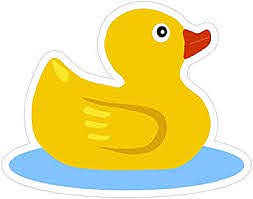 Amazon Com Rubber Ducky Sticker Decal Custom Vinyl Funny Cute Duck Automotive