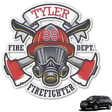 Firefighter Graphic Car Decal Personalized Youcustomizeit