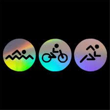 Triathlon Swim Bike Run Sports Sticker Car Window Door Bumper Wall Vinyl Decal