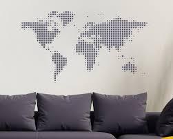 World Map Wall Sticker World Wall Sticker World Map World Globe World Map Wall Art Urban Artwork