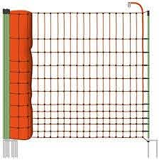 Electric Fence Netting 50m By 112cm Icludes Posts With Double Spikes Ideal Euronetz For Poultry Geese And Ducks Amazon Co Uk Pet Supplies