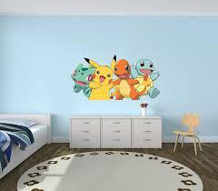 Charmander Bulbasaur Squirtle Wall Decal Vinyl Sticker Art Etsy Pokemon Room Boys Bedroom Decor Kid Room Decor