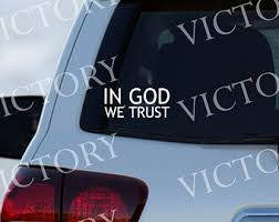 God Decal Etsy
