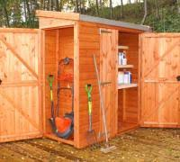 wooden garden sheds side storage