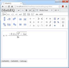 imatheq mathematics equation editor
