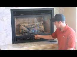 gas fireplace with a standing pilot