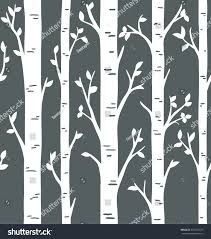 Seamless Pattern Birch Aspen Tree Forest Stock Vector Royalty Free 651554725
