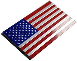Amazon Com 3d Metal Us American Flag Emblem Sticker Decal High Grade Aluminum 3 15x1 75 Inch Arts Crafts Sewing