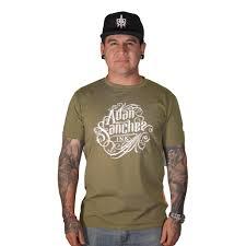 Adan Sanchez Ink Olive Green T-shirt – asiink